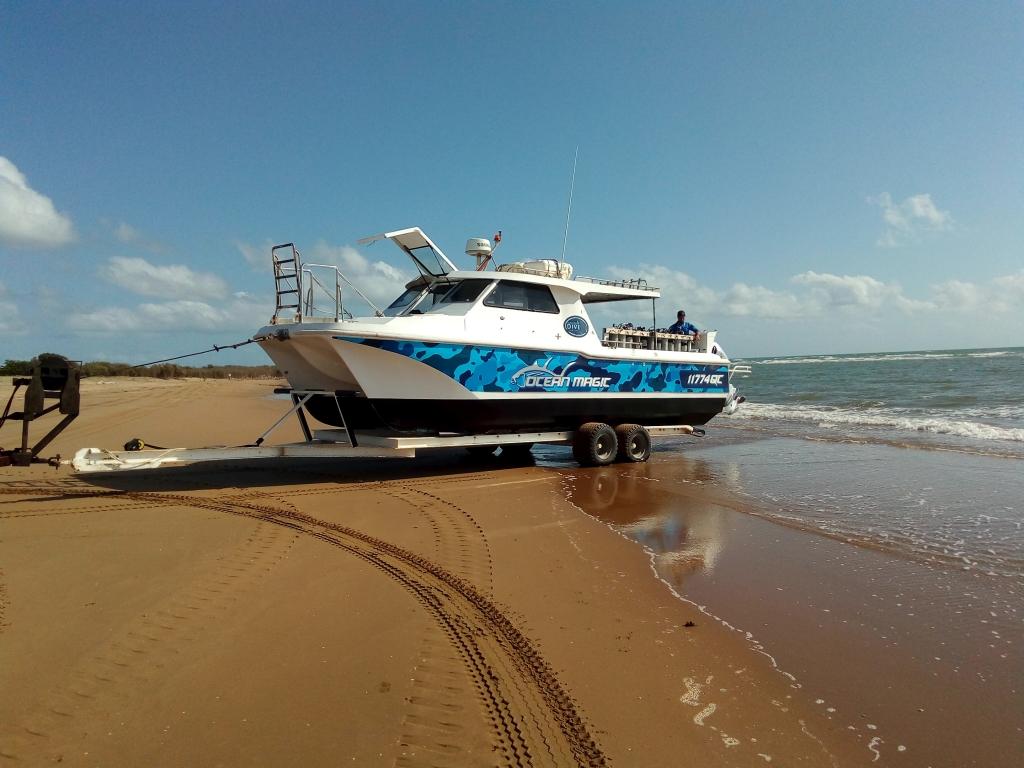 Ocean Magic Vessel on Alva Beach