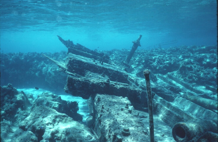 Wreck of the Reef Princess on Wheeler Reef 1