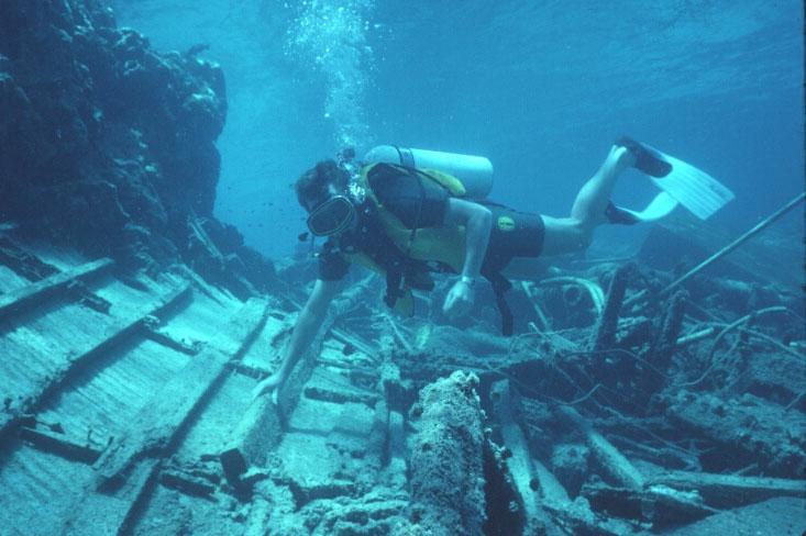 Wreck of the Reef Princess on Wheeler Reef 2