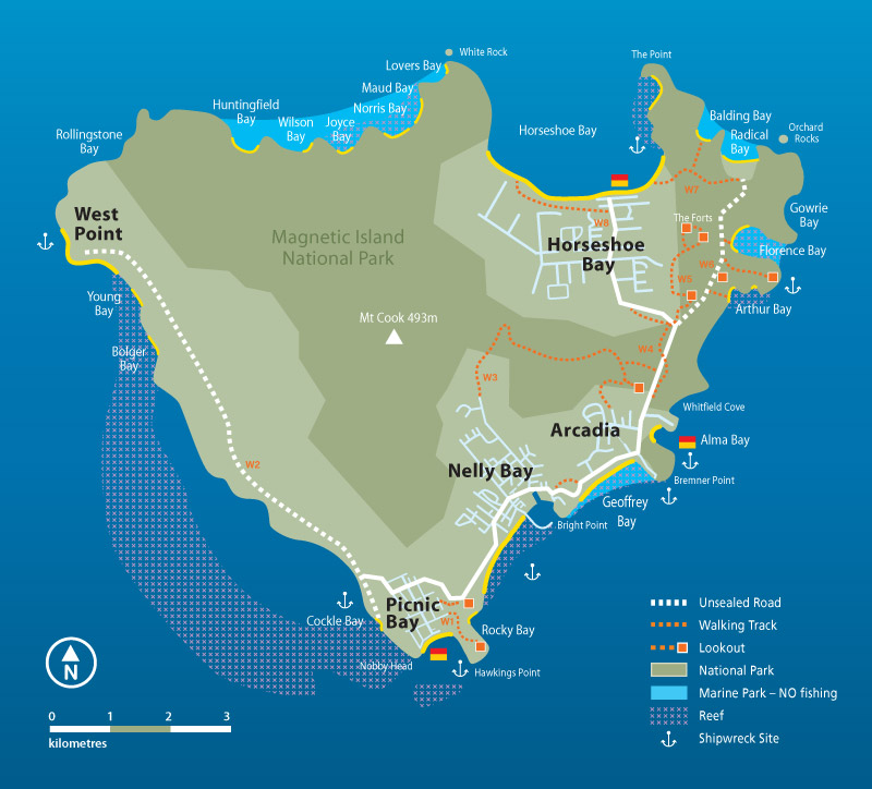 Magnetic Island Map Dive Sites – Magnetic Island – NQUEC